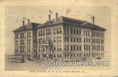 Head Offices, MW of A - Rock Island, Illinois IL Postcard