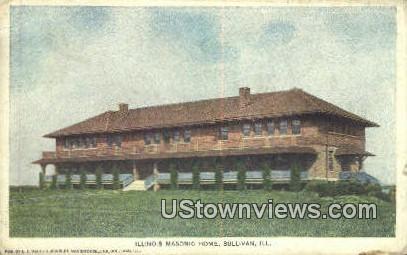 Illinois Masonic Home - Sullivan Postcard