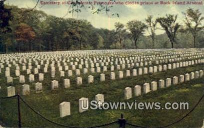 Cemetery of Confederate Prisoners - Rock Island, Illinois IL Postcard