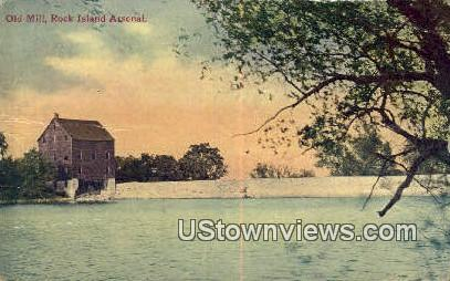 Old Mill - Rock Island, Illinois IL Postcard