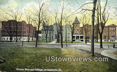 Illinois Woman's College - Jacksonville Postcard