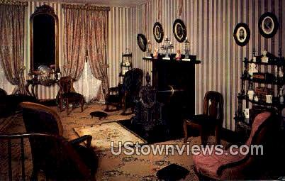 Double Parlor, Abraham Lincoln's Home - Springfield, Illinois IL Postcard