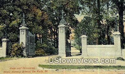 State Normal School - DeKalb, Illinois IL Postcard
