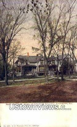 Rest Cottage, Home of Frances Willard - Evanston, Illinois IL Postcard