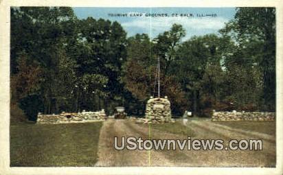 Tourist Camp Grounds - DeKalb, Illinois IL Postcard
