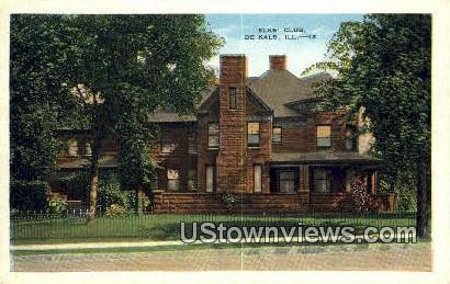 Elks' Club - DeKalb, Illinois IL Postcard