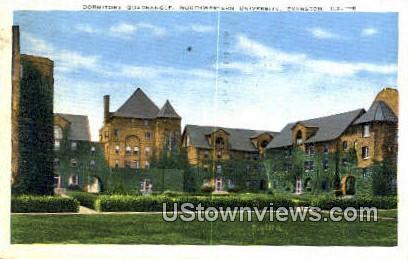Dorm Quadrangle, Northwestern University - Evanston, Illinois IL Postcard