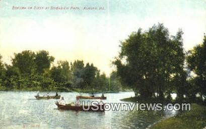 Riverview Park - Aurora, Illinois IL Postcard