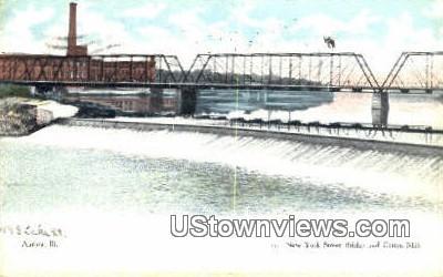 New York Street Bridge - Aurora, Illinois IL Postcard