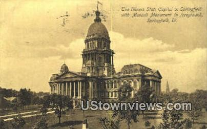 Illinois State Capitol - Springfield Postcard