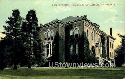 Law Bldg, University of Illinois - Champaign Postcard