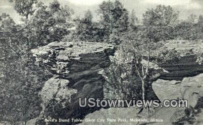 Devils Stand Table - Makanda, Illinois IL Postcard