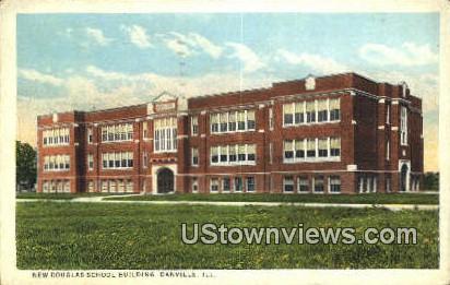 New Douglas School Bldg - Danville, Illinois IL Postcard