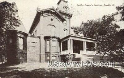 Speaker Cannon's Residence - Danville, Illinois IL Postcard