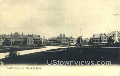 Soldiers Home - Danville, Illinois IL Postcard