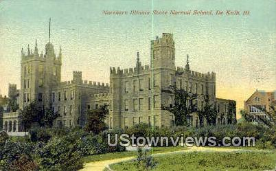 Northern Illinois State Normal School - DeKalb Postcard
