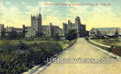 Normal & Training School Bldg - DeKalb, Illinois IL Postcard
