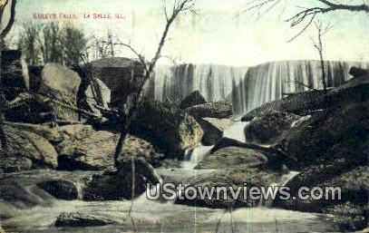 Bailey's Falls - La Salle, Illinois IL Postcard