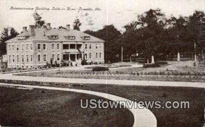 Admin Bldg, SoldiersHome - Danville, Illinois IL Postcard