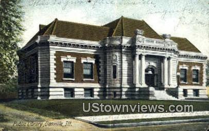 Public Library - Danville, Illinois IL Postcard