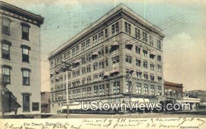 The Temple - Danville, Illinois IL Postcard