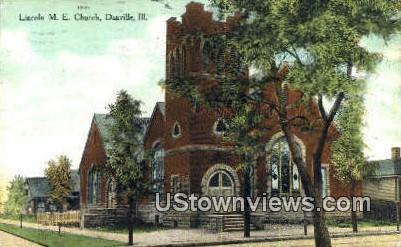 Lincoln ME Church - Danville, Illinois IL Postcard