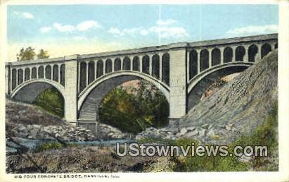 Big Four Concrete Bridge - Danville, Illinois IL Postcard