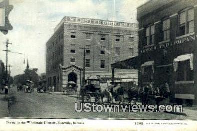 Wholesale District - Danville, Illinois IL Postcard