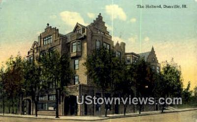 The Holland - Danville, Illinois IL Postcard