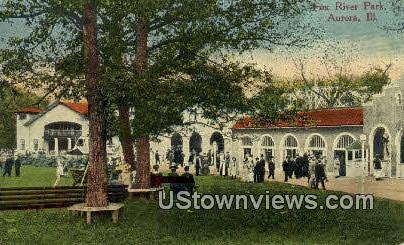 Fox River Park - Aurora, Illinois IL Postcard
