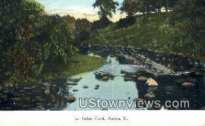 Indian Creek - Aurora, Illinois IL Postcard