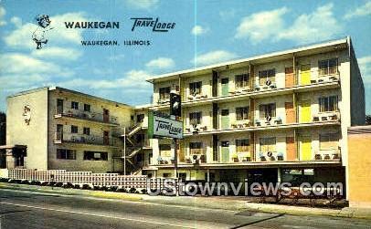 Waukegan Travelodge - Illinois IL Postcard