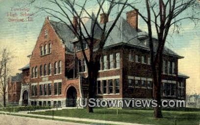 Township High School - Sterling, Illinois IL Postcard