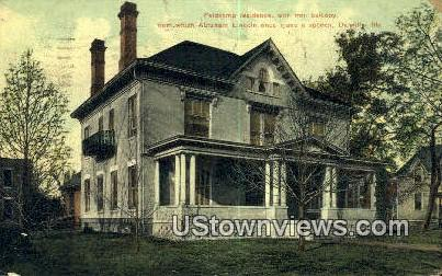 Feldkamp Residence - Danville, Illinois IL Postcard