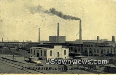 Am Steel & Wire Co - Waukegan, Illinois IL Postcard
