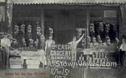 Banana Sale, Aug 13, 1910 - Hillsboro, Illinois IL Postcard