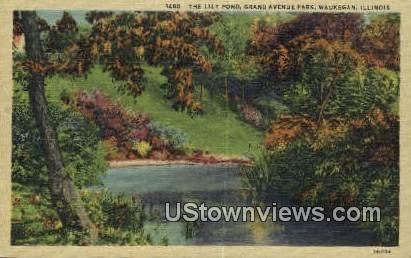 Grand Ave Park - Waukegan, Illinois IL Postcard