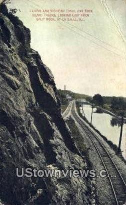 Illinois & Michigan Canal - La Salle Postcard