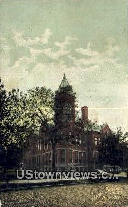 High School, Danville - Illinois IL Postcard