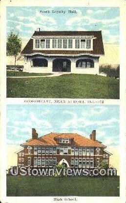 South Loyalty Hall - Aurora, Illinois IL Postcard