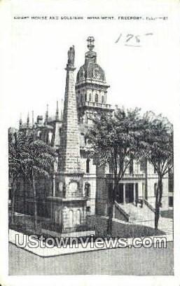 Court House - Freeport, Illinois IL Postcard