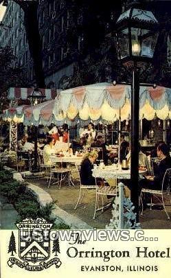 Orrington Hotel - Evanston, Illinois IL Postcard