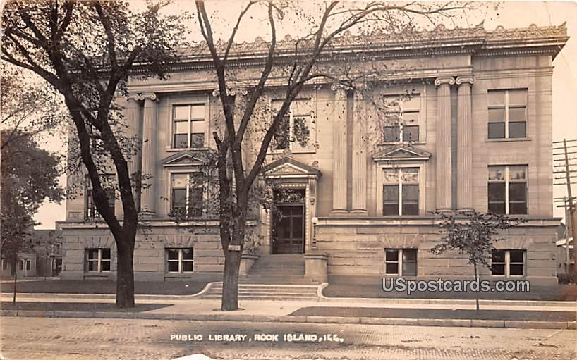 Public Library - Rock Island, Illinois IL Postcard