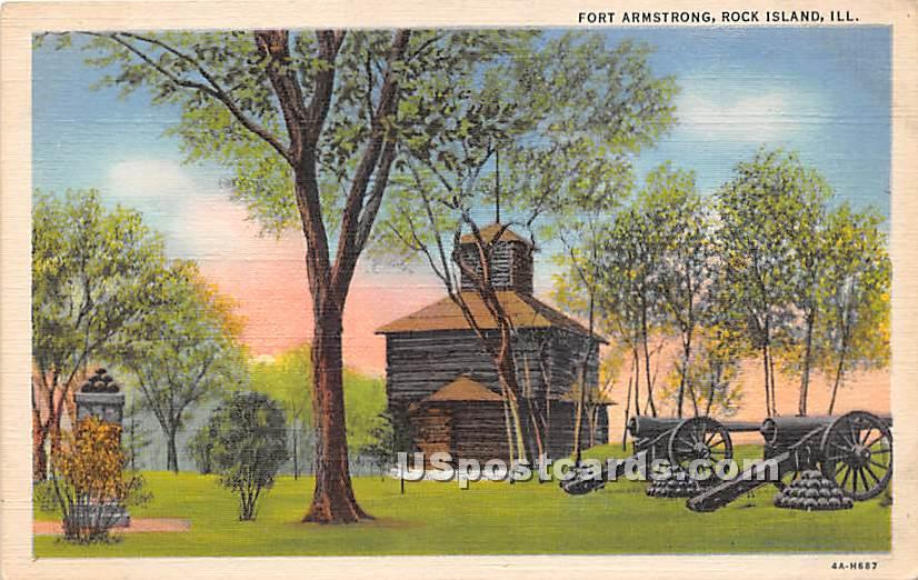 Fort Armstrong - Rock Island, Illinois IL Postcard