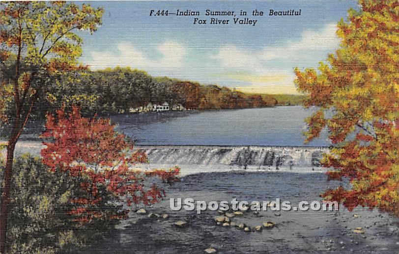 Indian Summer - Rox River Valley, Illinois IL Postcard