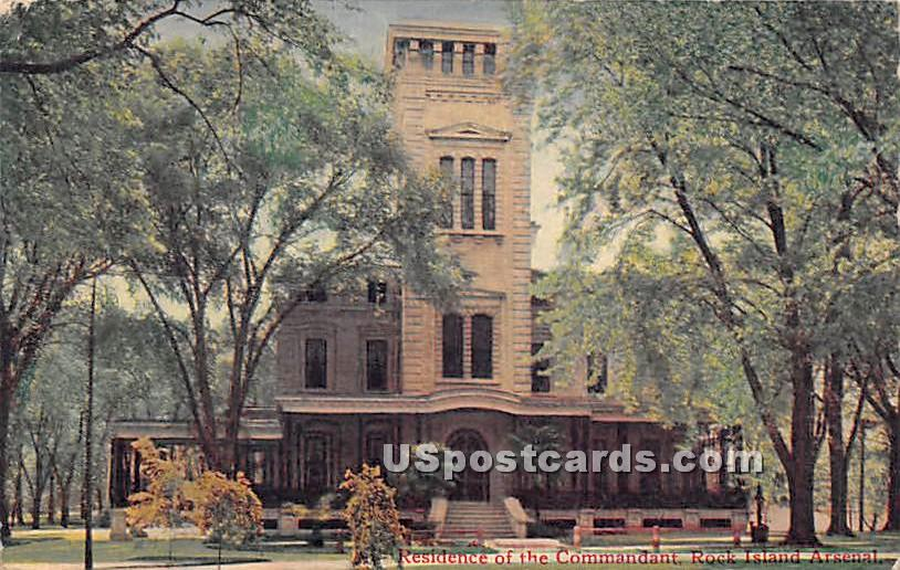 Residence of the Commandant - Rock Island, Illinois IL Postcard