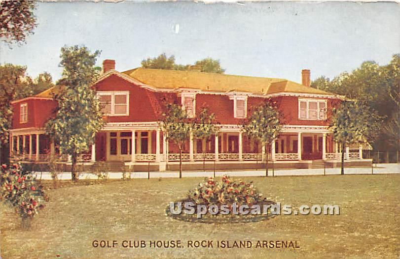 Golf Club House, Rock Island Arsenal - Illinois IL Postcard