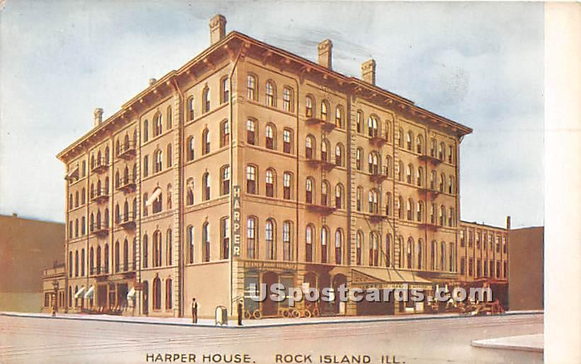 Harper House - Rock Island, Illinois IL Postcard