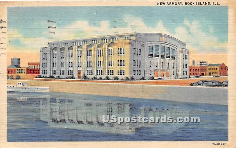 New Armory - Rock Island, Illinois IL Postcard
