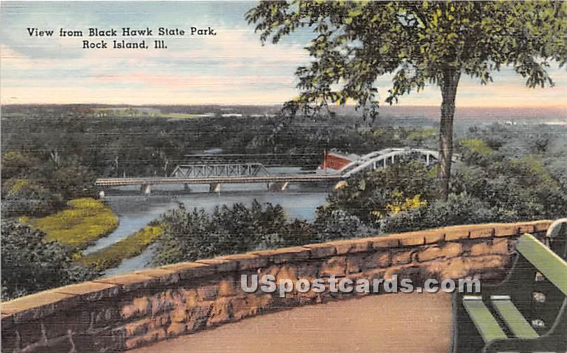 Black Hawk State Park - Rock Island, Illinois IL Postcard